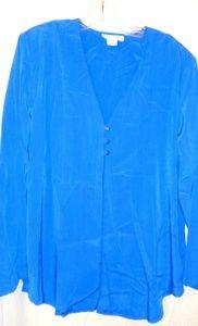 Graver Studio Lapis Blue Long Jacket Sz L